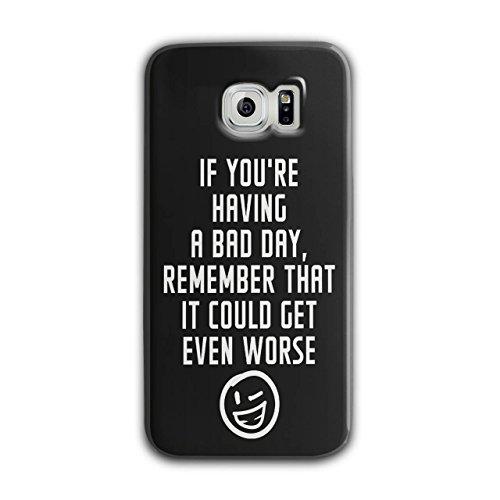 Optimistisch Sprichwort Komisch Winky Smiley Schwarz 3D Samsung Galaxy S6 Fall | Wellcoda