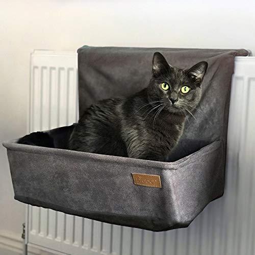 PiuPet® Amaca per gatti termosifone - adatto a molti radiatori comuni - Cuccia gatto termosifone - adatto anche per gatti fino a 7 kg