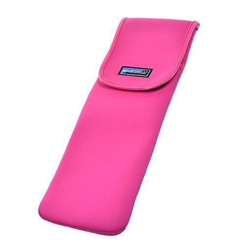 BCP Hot Pink Farbe wasserabweisendem Neopren Curling Iron, Halter Bügeleisen Curling Zauberstab, Travel Schutzhülle Tasche Beutel (groß) -