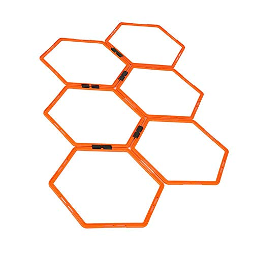 Fußball Trainingsringe Feldmarkierung Ausrüstung Training Hexagonal Agility Ring Training Ring Physical Training Ring Fußball-Trainer Leitern Hürden Speed Rings Fitness Training Equipment, 6 Pcs -