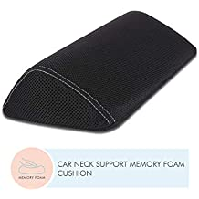 The White Willow Orthopedic Memory Foam Designer Car Pillow Headrest Cushion for Head & Neck Support Suitable All Cars -Newjade Black