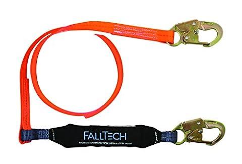 FallTech 8256pc ViewPack, Urethan beschichtet Web SAL–Single Bein mit 2Snap Haken, 6', orange
