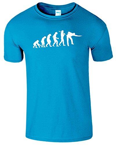 Evolution Of Snooker Herren T Shirt Schwimmbad Komisch Spiel Antique Saphir / Weiß Design