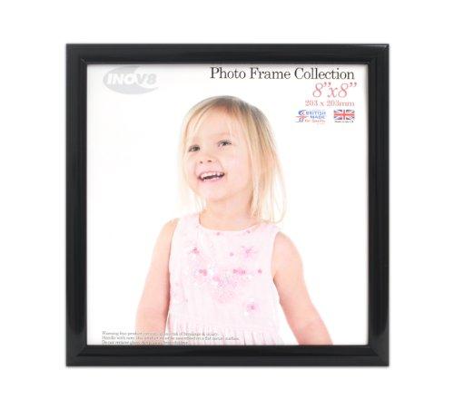 Glossy Perfekte Finish (Inov8 PFVD-VBLK-88 Traditionell Briten Foto und Bilderrahmen, 20 x 20 cm, Packung mit 2, Value schwarz)
