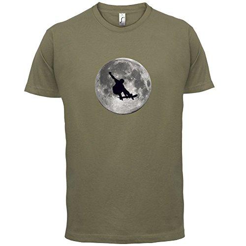 Skateboarder Moon - Herren T-Shirt - 13 Farben Khaki