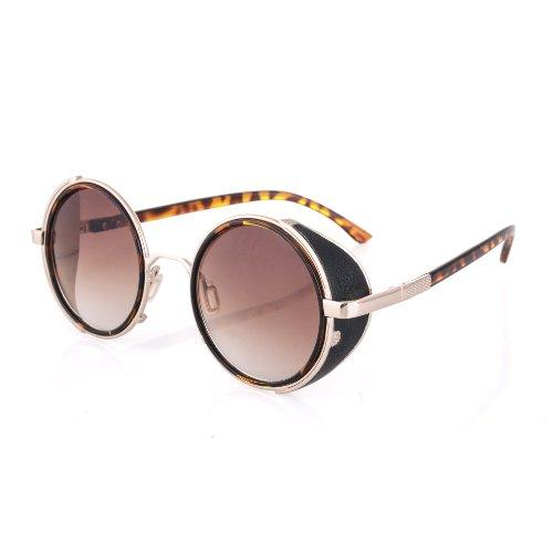 Zwei Licht Schildkröte Retro Classic Unisex Geek Stil Retro 1980der mode sonnenbrille mit geräucherten Objektiven OFERT UV 400 (Schildkröte Zwei Licht)