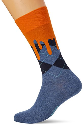 Burlington Herren Socken Argyle Drippy, Mehrfarbig (Light Denim 6660), 40/46 (Socken Fashion Argyle)