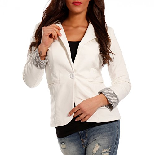 Made Italy - Giacca da abito - Camicia - Basic - Maniche lunghe  -  donna Weiß2