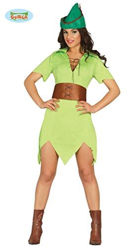Bogenschütze Kostüm für Damen Karneval Fasching Party Wald Bogen Schütze Gr. XS-M, (Erwachsene Weibliche Robin Kostüme)