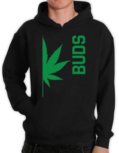 Best Buds Paare BUDS Schwarz X-Large Kapuzenpullover