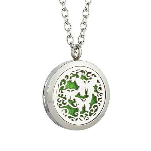 JAOYU collana di medaglione diffusore di olio essenziale per uomo gioielli di aromaterapia animale in acciaio inox charms medaglioni - ragazzi di ragazze adolescenti regali