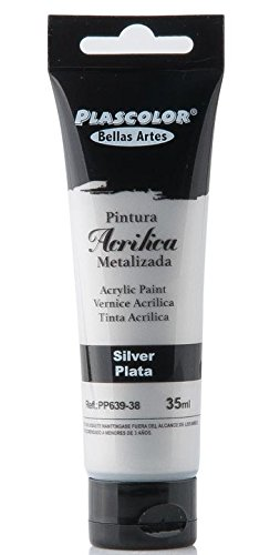 plascolor pp639-38-Acrylfarbe, 35ml, Metallic Silber