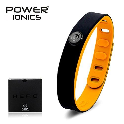 Power Ionics Energiearmband Superhelden Edition | 4-in-1 Ionenarmband 3000 cc Negative Ionen | Superhero Powerarmband | Gesundheitsarmband mit Bio Silikon Armband | Modell PT066-HERO (Flash)