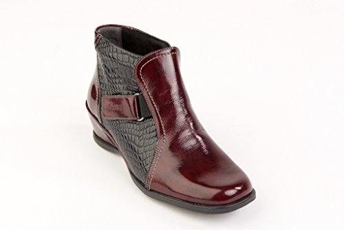 suave-sasha-rouge-noir-bottines-decontracte-un-confort-optimal-coupe-large-multicouleur-noir-et-roug