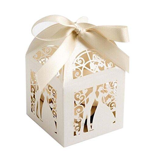 SUPVOX 25 stücke Hochzeit süßigkeiten süßigkeiten Geschenk bevorzugungskästen mit Band tischdekorationen für Hochzeit Valentines Tag (Süßigkeiten-boxen Für Den Valentines Tag)
