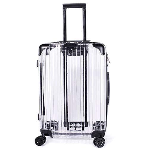 AIURBAG Transparent Clear Maleta De Gran Capacidad,Equipaje De Viaje con 4 Ruedas Silenciosas Y Mango Telescópico 20 Pulgadas
