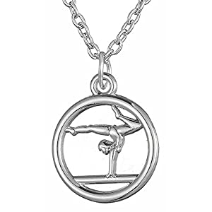 Lemegeton Gymnastik Hollow Runde Anhänger Halskette Fashion Schmuck für Männer Frauen Geschenk für Turnerin
