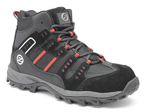 Zephyr Z016, Herren Mid-Cut Hiker Trainer SB SRC Sicherheitsschuhe, Schwarz - schwarz - Größe: 41.5 Mid Cut Hiker Boot