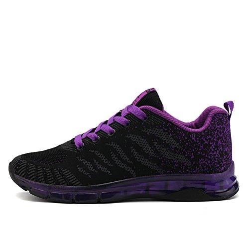 Fexkean scarpe da ginnastica sportive basse running sneakers outdoor tennis casual scarpe donna bambina nero rosa rosso 35-40(purple38)