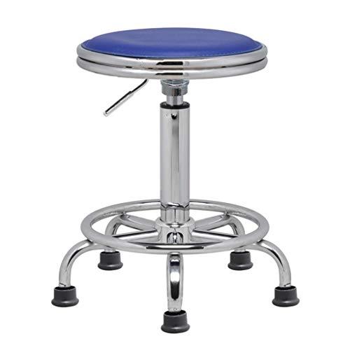 Meetingraum Stühle Stuhl Barhocker Barhocker Barhocker Barhocker (Color : D. Blue - Feet, Size : 33 * 33 * 44-58cm)
