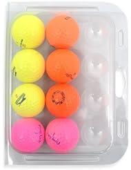 Second Chance Golfbälle 8 Farbige Optic  Qualitäts, weiß, OPT-8-CL