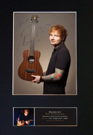 ED SHEERAN SIGNED PRINT 3