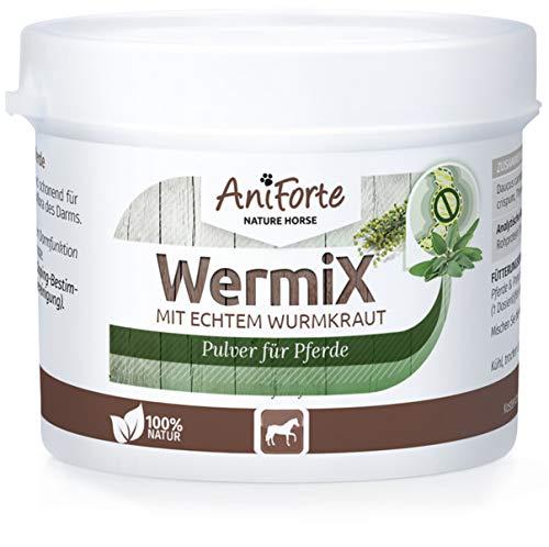 AniForte WermiX Pulver 50g für Pferde und Ponys - Natürlicher Wurmfeind, Naturprodukt Bei und Nach Wurmbefall, Natur Pur, Ohne Chemie -