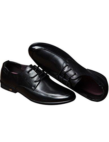 Youlee Hommes Chaussures à lacets Cuir Chaussures d'affaires Noir