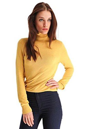 elegance1234 - Maglia a manica lunga - Donna Giallo