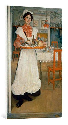 kunst für alle Leinwandbild: Carl Larsson Martina bringt das Frühstück - hochwertiger Druck, Leinwand auf Keilrahmen, Bild fertig zum Aufhängen, 60x100 cm -