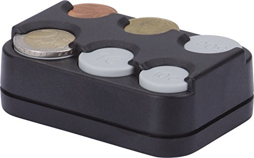 HR-Motion - Scatola Portamonete con 8 compartimenti per Monete da 1Centesimo Fino a 2Euro, Versione con Molla, Made in Germany, Autoadesivo-10310301
