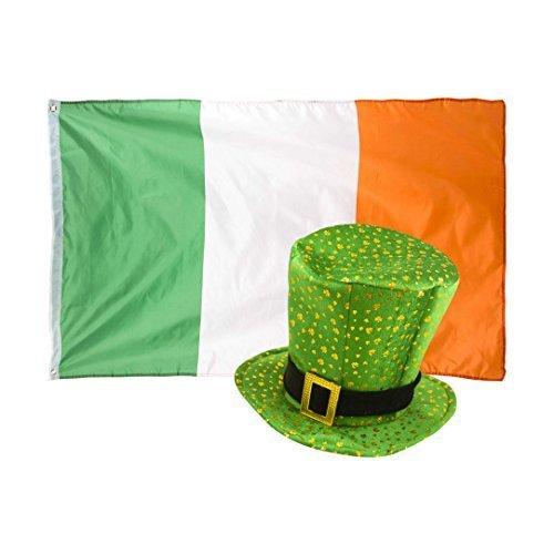 St Patricks Tag NEUHEIT Kostüm Kobold Kleeblatt Muster Hut mit Irland Flag