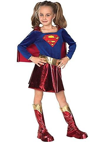 Super Girl - Hero Kinderkostüm, 3-teiliges Comic Mädchen Kostüm für Fasching - S (Clark Kent Lois Lane Kostüm)