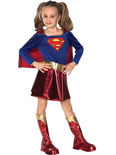 Super Girl - Hero Kinderkostüm, 3-teiliges Comic Mädchen Kostüm für Fasching - (League Justice Heroes Kostüme)