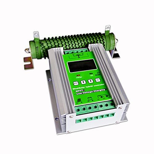vFound 1000W MPPT High End End Wind Solar Hybrid Controller 600W Wind e 400W Solar Panel 12V/24V DC Identificazione automatica della tensione di sistema(MPPT)