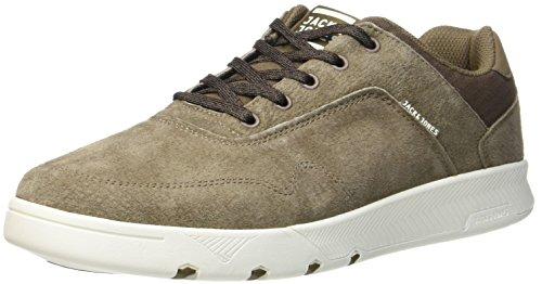 JACK & JONES Herren JFWHOUGHTON Nubuck Mushroom Sneaker, Braun, 44 EU