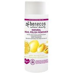 BENECOS - Quitaesmaltes Natural - Sin acetona- Suave - Limpia con eficacia - Para uñas bonitas y limpias - 100% vegano – 125 ml