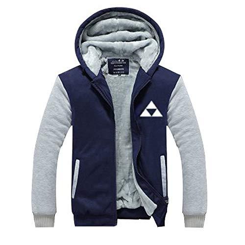 BIRDEU Herren Kapuzen pullover Jacke Plus Samt Dick Zip Hoodie Mantel Warm Sweatshirt Zelda Cosplay Kostüm für Winter Kleidung -