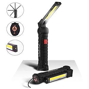 EECOO LED Arbeitsleuchte Taschenlampe Werkstattlampe LED COB Inspektionsleuchten Wiederaufladbare mit Haken zum Aufhängen und Magnet Basis für Auto Reparatur Werkstatt Garage Camping Notbeleuchtung