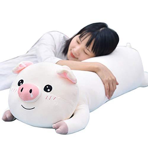 Kopfkissen Plüschtier Kuscheltiere Mädchen Bett Schlafen Streifen Kissen Kind Puppe Geschenk Nettes Plüschtier (Color : White1, Size : 110cm) - Streifen-bett, Kissen