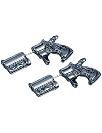Pendientes Personalizados Pistola Balas Pendientes Pendientes Creativo Semental Retro Hombres y Mujeres