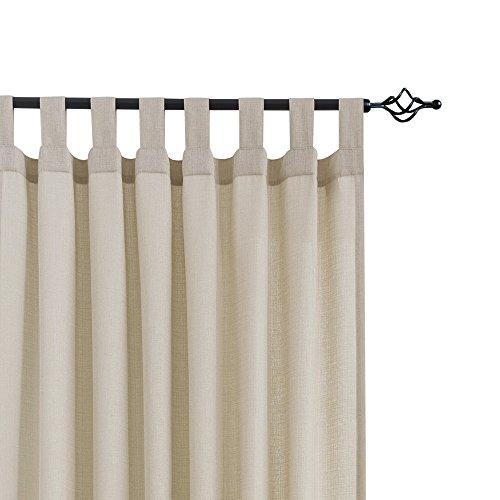 CKNY 2 Stücke Sheer Viole Gardinen für Schlafzimmer mit Schlaufen Wohnzimmer,webart Vorhang, 225 cm x 140 cm(H x B),2er-Set, Taupe