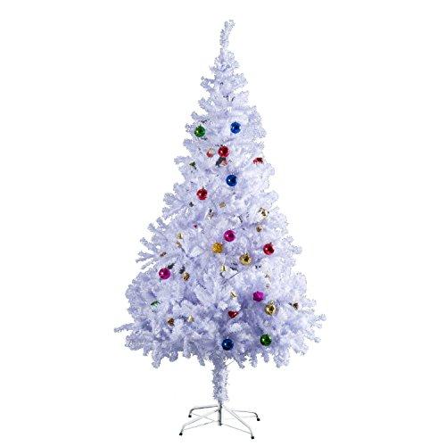 Outsunny HOMCOM Albero Abete di Natale Artificiale Abete in PVC 150 cm / 180cm con Supporto Bianco foltissimo (150cm)