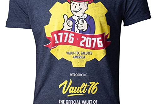 1f43175cec Fallout T-Shirt 76 - Vault 76 Poster Men s T-Shirt Blue-M