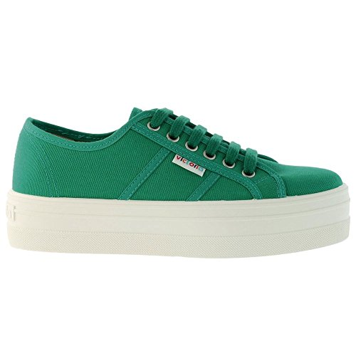 Victoria - Blucher Lona, Stivali  da donna Beige(Verde)
