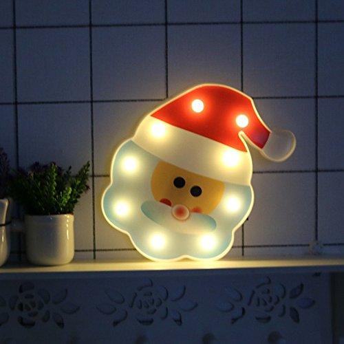 Missley Noël Santa Claus LED Lumières De Noël Décoration Night Light Pour Enfants Cadeau Éclairage Intérieur De Noël Fête De Mariage Chambre Décoration