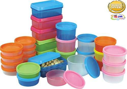 BMS Mini Food Storage Containers, Condiment and Sauce Container, Baby Food Storage and Lunch Boxes , Multi-Purpose Leak Proof & Microwave SAFE , 29-Pieces