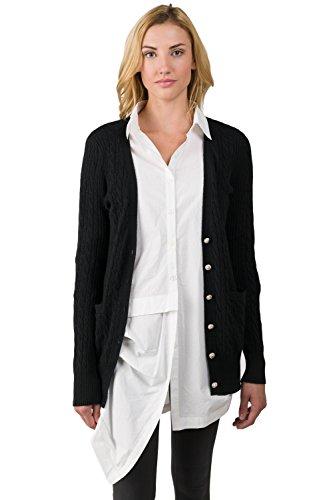 J CASHMERE Damen Pullover Gr. M, Schwarz - Schwarz (J Crew Cashmere-pullover)