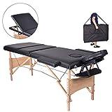 Pawstory Massageliege 3 Zonen Holz Klappbar Tragbar Massagetisch Faltbar Leicht Deluxe Massage Bett