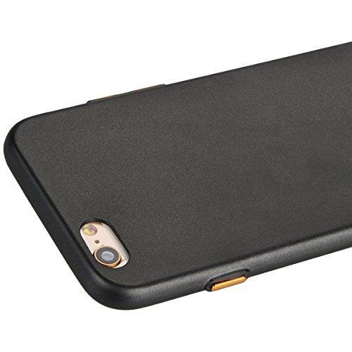 Yokata für iPhone 6 Plus / iPhone 6s Plus Hülle Silikon Weich TPU Schutz Handyhülle Schutzhülle Clear Case Backcover Bumper Protective Cover - Rose Gold + 1 x Kapazitive Feder Schwarz